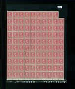 1918 United States Postage Stamps 527 Mint Near Full Sheet Plate No. 12018