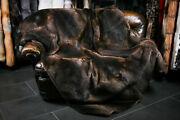 503 Fur Blanket From Canadian Beaver Skins Genuine Fur Throw Real Plaid Quilt