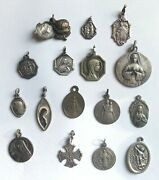One Lot Old And Vintage Religious Medals
