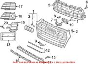 Genuine Oem Grille For Audi 80a853651lrp5