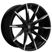 4ea 22 Staggered Lexani Wheels Css-15 Black W Machined Tips Rims S43