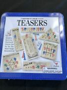 Teasers 7 Different Solid Wood Brain Exercise Game Tin