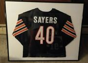 🔥gale Sayers Chicago Bears Framed Signed Autograph Throwback Jersey Coa Jsa