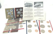 Set Of 2 - 1984 P And D Mints Uncirculated Coin Sets W/envelope