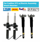 4x Fit Cadillac Xts 3.6l 2013-2019 Front Rear Shock Absorber W/electric 23101683