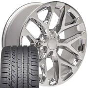 22x9 Chrome Wheel And Gy Tire Fits Chevy And Gmc 5668 Npp
