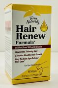 Terry Naturally Hair Renew Formula 60 Softgels Exp 12/2021 Healthy Hair Growth