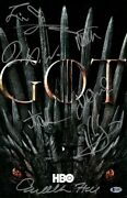 Game Of Thrones Cast Signed Autographed 11x17 Photo Williams 7 Autos Beckett Loa