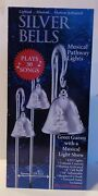Mr. Christmas 3 Pk Silver Bells Musical Pathway Markers, Lights 30 Songs
