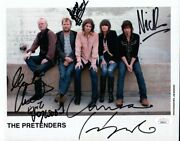 The Pretenders Band Signed Autographed 8x10 Photo Chrissie Hynde Jsa Jj82111