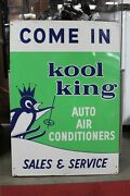 1965 Kool King Auto Air Conditioners Sales And Service Single Sided Tin Sign Am