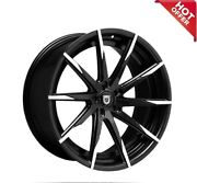 4ea 20 Staggered Lexani Wheels Css-15 Black W Machined Tips Rims S44