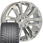 Chrome 22x9 Wheel And Gy Tire Set Fits Chevy Gm Cadillac