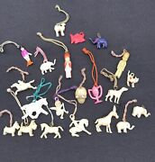 Nice Lot Of 1930's - 40's Vintage Cracker Jack Celluloid Gumball Prize Charms