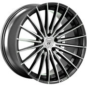 4ea 22 Staggered Lexani Wheels Ressa Black Machined Flow Forged Rimss44