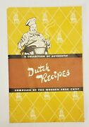 Wooden Shoe Beer Dutch Recipe Booklet - Minster, Ohio Oh.