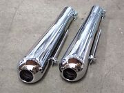 1 3/4 Inlet Smoothy Mufflers Exhaust Tips Triumph Norton Bsa Custom Motorcycle