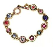 Gorgeous Patricia Locke 7 5 Bracelet Gold Plate Passion Crystals Nwot