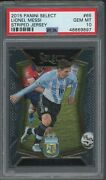 2015 Panini Select Soccer Striped Jersey 65 Lionel Messi Argentina Psa 10