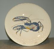 New Dinner Plate Lobster , Hand Painted Grands Crustaces Pattern From Gien