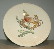 New Dinner Plate Crab , Hand Painted Grands Crustaces Pattern From Gien