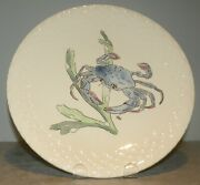 New Dinner Plate Blue Crab , Hand Painted Grands Crustaces Pattern From Gien