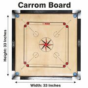 Large Carrom 32 X 32 Board Coins And Striker Set Great Quality Family Game