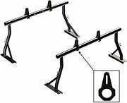800lb Extendable Low Profile Pickup Ladder Lumber Rack 2 Bar Set With Load Stops