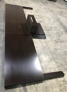 Lot Of New Dual Espresso Wall Mount Queen Headboard Set With Center Nightstand