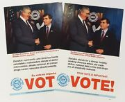1988 Dukakis Uaw Union Campaign Posters Spanish And English