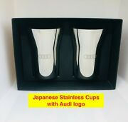 Japanese Stainless Beer Cups With Audi Logo