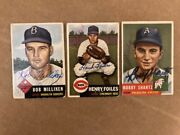 Henry Foiles Autographed Signed 1953 Topps High Number Card With Coa
