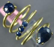 Estate Large 4.25ct Aaa Sapphire 14kt Yellow Gold 3d Snake Flexible Fun Ring