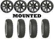 Kit 4 System 3 Xcr350 Tires 35x10-15 On Frontline 308 Matte Gray Wheels Can