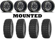 Kit 4 Sti X Comp Atr Tires 32x10-14 On Method 406 Beadlock Matte Black Ter