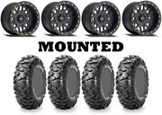 Kit 4 Maxxis Bighorn Radial 26x9-14/26x11-14 On 406 Beadlock Matte Black Fxt