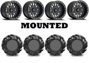 Kit 4 High Lifter Outlaw2 32.5x10.5-14 On Method 406 Beadlock Matte Black Can