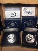 V75 American Silver Proof Eagle Coin End Of Ww 2 And Silver Medal Lot Of 2