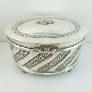 Vintage Sterling Silver 925 Tea Caddy / Herb Box / Boxes - 303.2 Grams