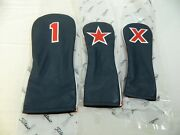 New Set Titleist Limited Headcovers Driver Fairway Hybrid Usa Us Flag Navy Red