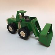 Vintage Buddy L Front End Loader Tractor Pressed Steel Green Used And Loved