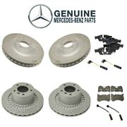 Genuine Front And Rear Disc Brake Rotors Pads And Sensors Kit For Mercedes W463