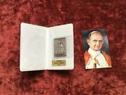 Catholic Souvenir Holy Year 1975 Rome Relic Pope Paul Vi With Madonna In Silver