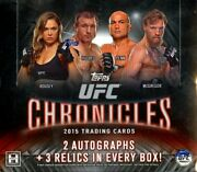 2015 Topps Ufc Chronicles Hobby 6 Box Case Blowout Cards