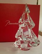 New In Box - Baccarat Crystal Snowy Fir Christmas Tree - Clear