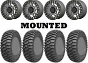 Kit 4 Ams M1 Evil Tires 30x10-14 On Kmc Ks240 Recon Beadlock Gray Wheels Ter