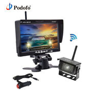 Wireless Ir Rear View Back Up Camera Night System + 7 Monitor For Truck Rv Van