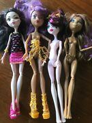 Monster High Doll Lot Draculaura Creepateria Clawdeen 13 Wishes Getting Ghostly