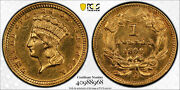One Better Date 1859-d One Dollar Gold Pcgs Graded Scratch Au Details 40988968
