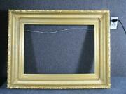 Antique American Hudson River Fluted Victorian Gesso Frame, Fits 24x17 Inches
